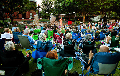Photo of The Green park in uptown Charlotte NC during the 2012 Charlotte Shakespeare Festival.