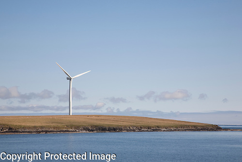 Renewable Wind Turbine, Sanday, Orkney Islands, Scotland