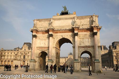 Arc du Triomphe Carrousel - Louvre Art Museum, Paris, France