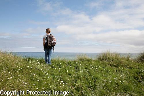 Walking on Sanday, Orkney Islands, Scotland