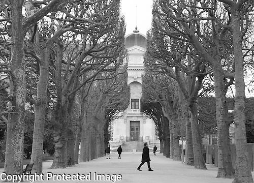 Jardin des Plantes in Black and White, Paris, France