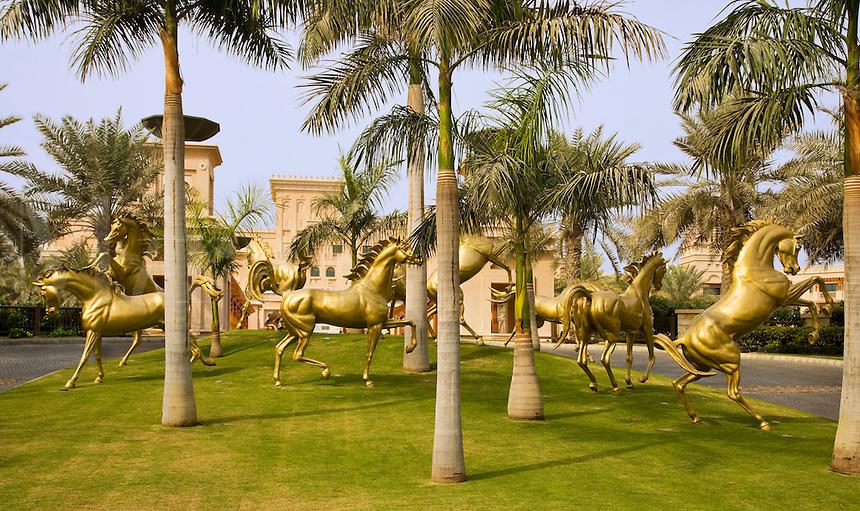 Dubai. Al Qasr Hotel, luxury hotel built in the style of a Moroccan ...