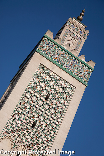 Tower of Central Mosque, Paris