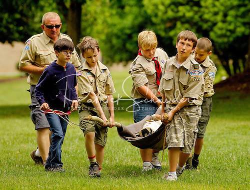 Photo: Scouts carry an