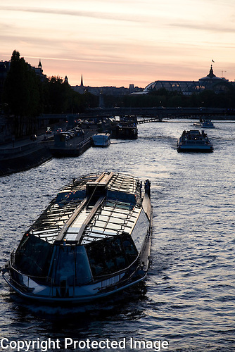 Tourist Boat on River Seine, Paris
