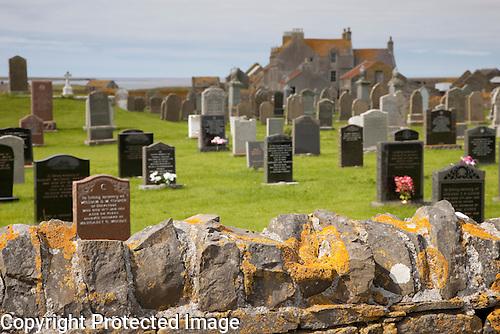 Graveyard, Scar House, Isle of Sanday, Orkney Islands, Scotland
