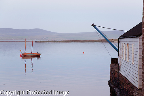 Boat at Sea in Stromness, Orkney Islands, Scotland