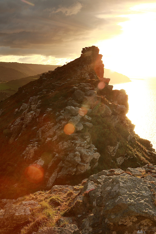 Nature / Landscape Photograph – Valley of the Rocks at Sunset, North Devon