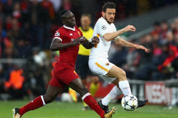 Mane Liverpool Florenzi Roma contrasto