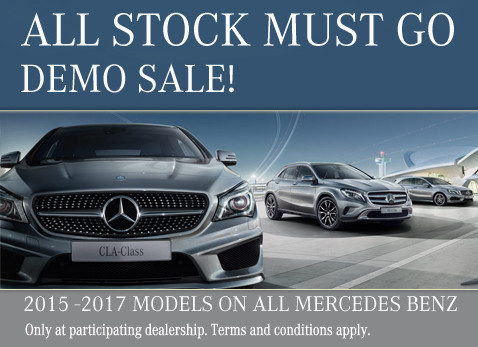 Mercedes Benz Demo Clearance Sale