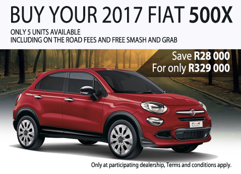 FIAT 500X special - Save R28 000