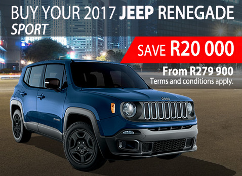 Buy a 2017 Jeep Renegade Sport in May and save R20 000