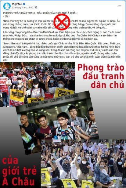 Luận điệu cổ xúy bạo loạn của Việt Tân.