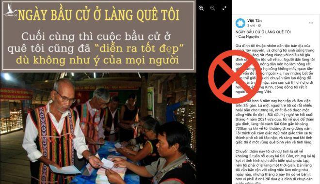Luận điệu xuyên tạc hoạt động bầu cử ở Tây nguyên của tổ chức chống phá Việt Tân.