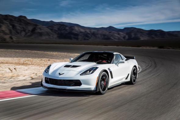 2014-2019 Chevrolet Corvette Stingray Coupe Front View Driving