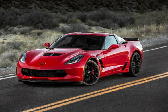 2014-2019 Chevrolet Corvette Stingray Coupe Front Angle View