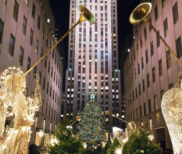 Of All The Trees In New York City None Are Quite As Iconic As The One At Rockefeller Center Lighting This Enormous Tree Is A Near Century Old Tradition