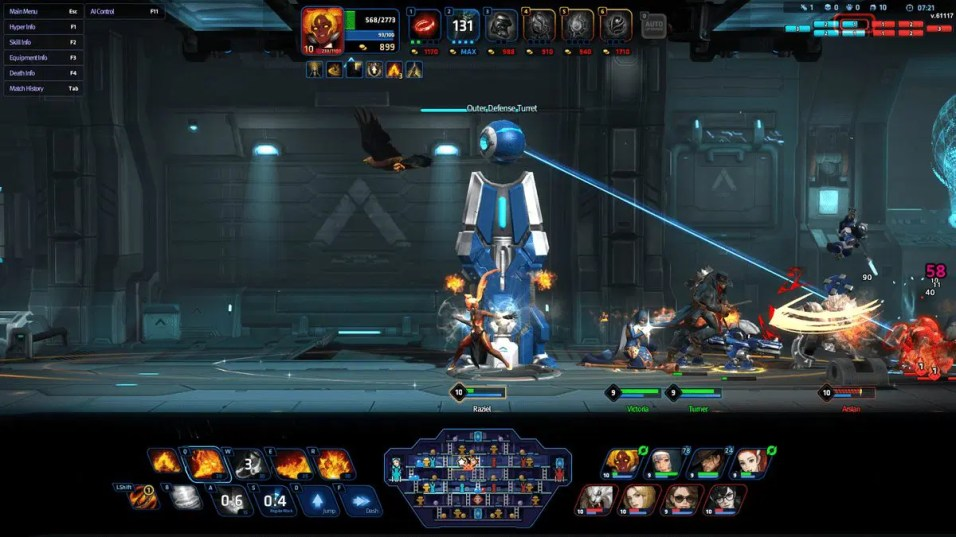 Side-Scrolling MOBA Hyper Universe Begins Closed Beta Testing 3
