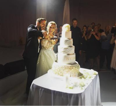Huge Cake Giant Lace Wedding Dress Dominika Cibulkova S