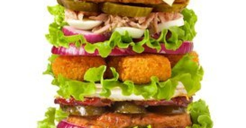 appetizing super big burger