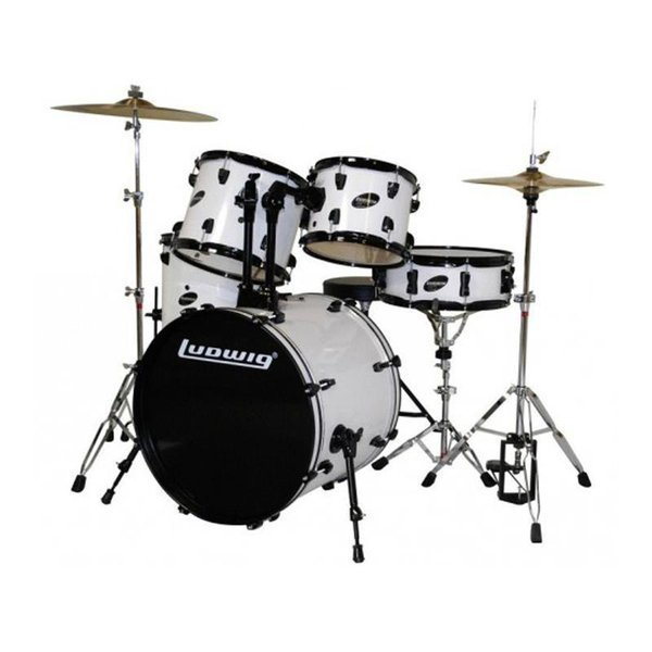 Cheap Drum Sets   Cheapism Ludwig LC125 Accent CS Combo Drum Set w  Zildjian Cymbals