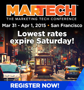 MarTech 2015 in San Francisco
