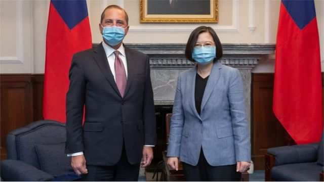 """Azar said, """"Taiwan's achievements in epidemic prevention demonstrate the transparency and openness of Taiwan's society and culture, as well as the value of democracy."""""""