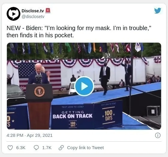 Australia-Biden was scolded by netizens for wearing a mask during his speech: American political leaders have no confidence in vaccines? (Photos) | Australia Chinatown
