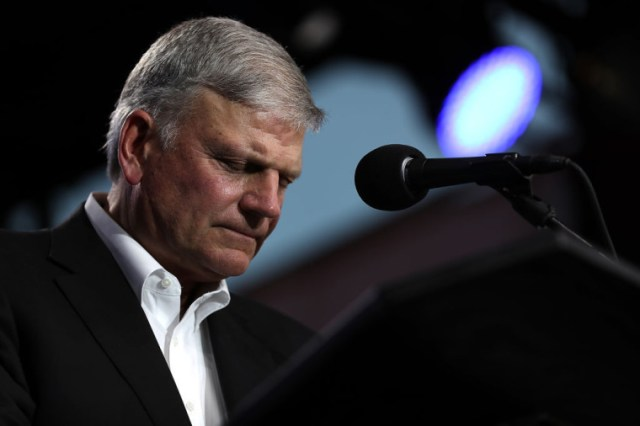 The Rev. Franklin Graham speaks during Franklin Graham's