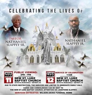 Nathaniel Slappey Sr., Pastor of New St. Luke Baptist Church in Detroit, and His Son Die Three Days Apart from Coronavirus