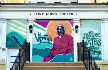 Historic D.C. Church Vandalized During Riots Has Racial Justice-Themed Murals Painted on Its Protective Plywood Panels