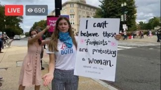 Pro-Life Protester Showing Support for Amy Coney Barrett Allegedly Punched in the Face by Pro-Abortion Activist Outside Supreme Court