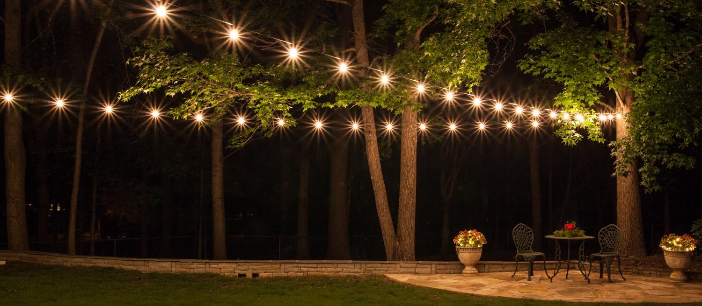 how to hang patio lights