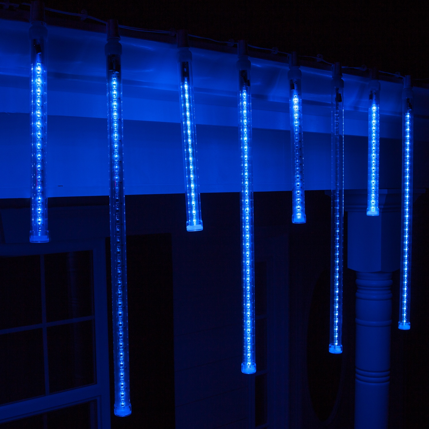 Blue And White Led Icicle Lights