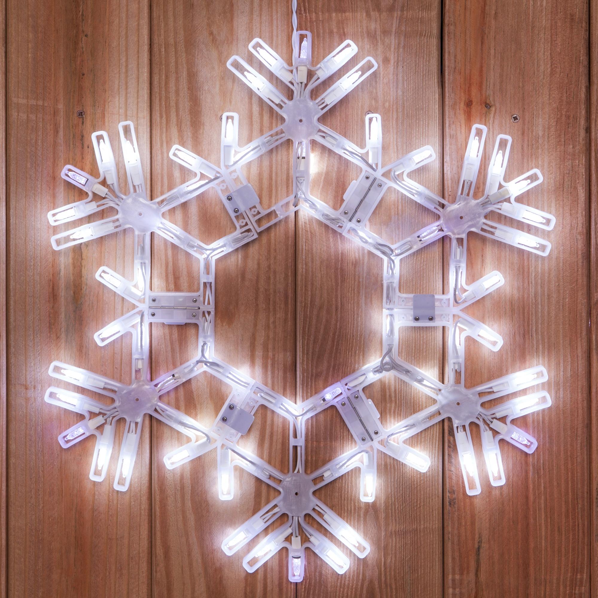 Snowflakes Amp Stars 20 LED Folding Snowflake Cool White