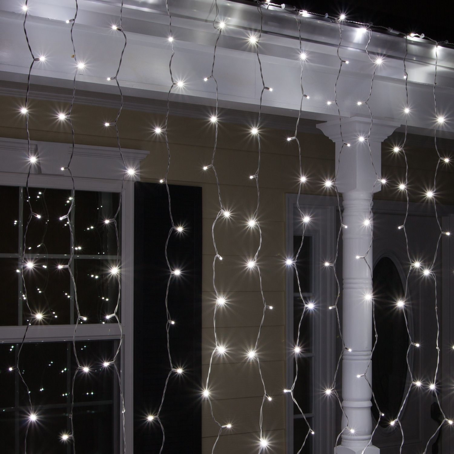 LED Christmas Lights Cool White LED Icicle Lights