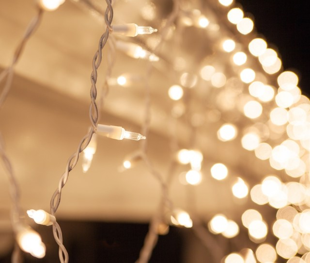 Christmas Icicle Light  Clear Icicle Lights White Wire Short Drops