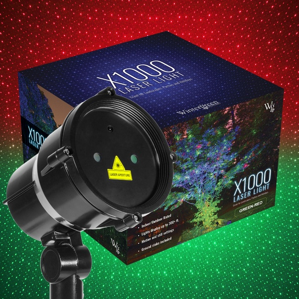 Green Red X1000 Laser Christmas Light Projector
