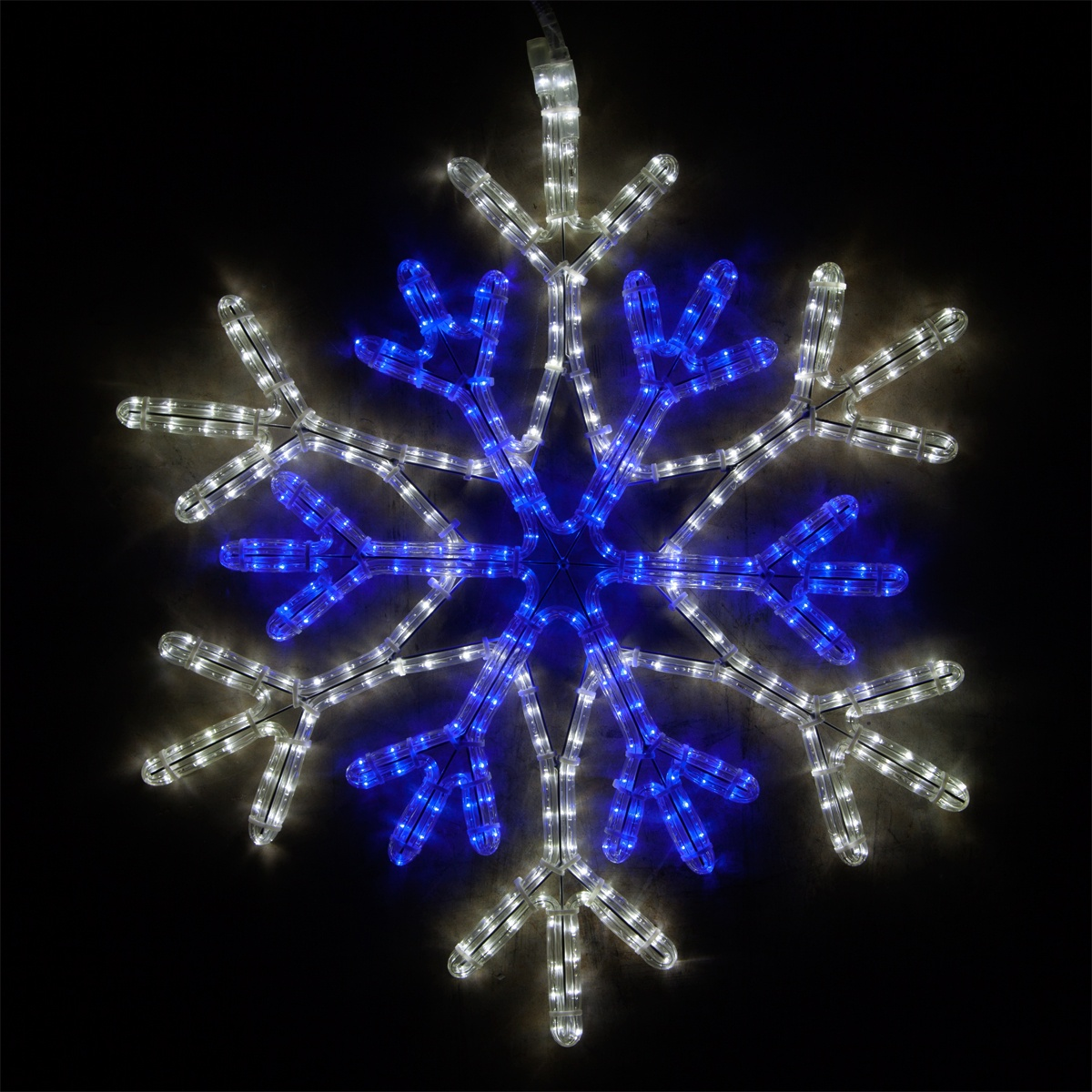 Snowflakes Amp Stars 28 LED Blue And Cool White Snowflake