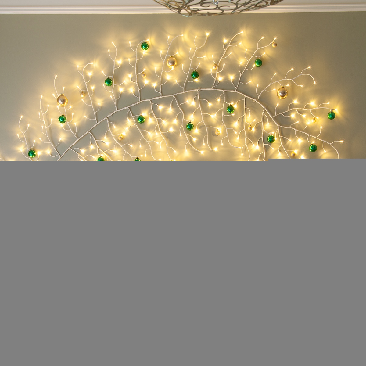 White Climbing Vine Lighted Branches With Warm White Led
