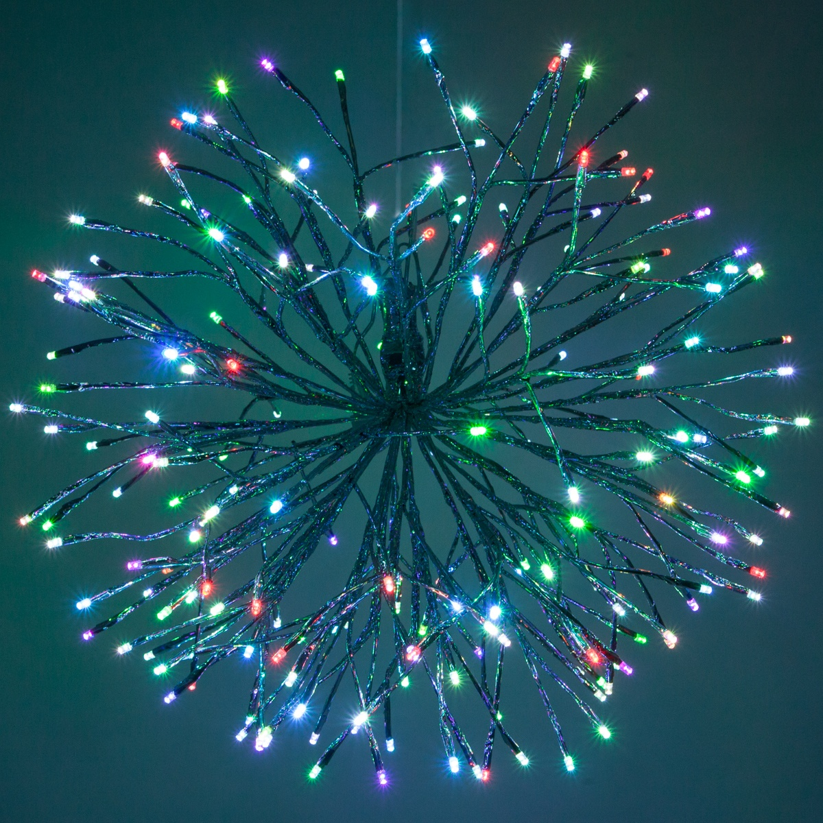 Silver Starburst Lighted Branches With Multicolor LED