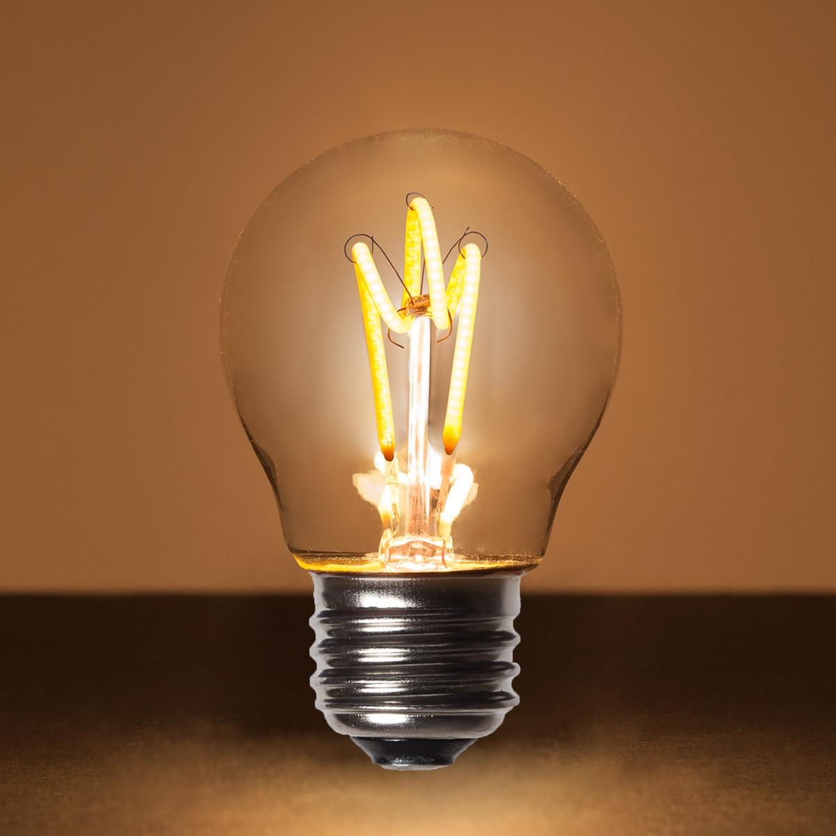 G45 Warm White Glass FlexFilament TM LED Edison Bulb Globe