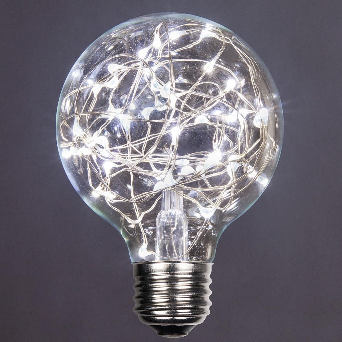 G80 Cool White Ledimagine Tm Fairy Light Bulb