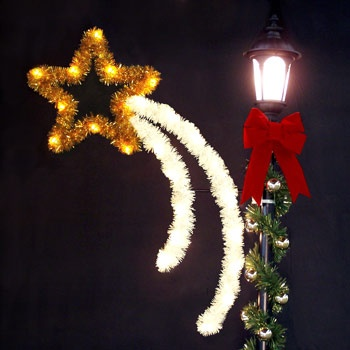 Outdoor Christmas Decorations 5 Shooting Star With Garland