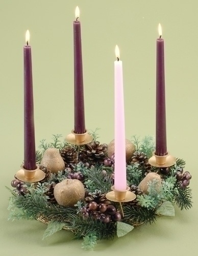 Christmas Candle Holders 14 Purple Berry Advent Candle
