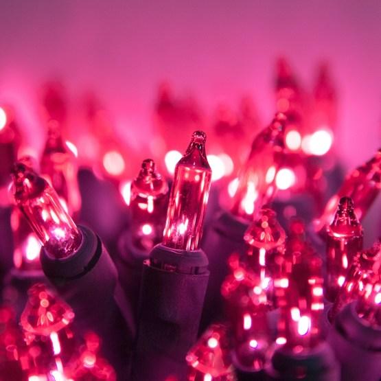 Christmas Lights 100 Pink Christmas Tree Mini Lights 6