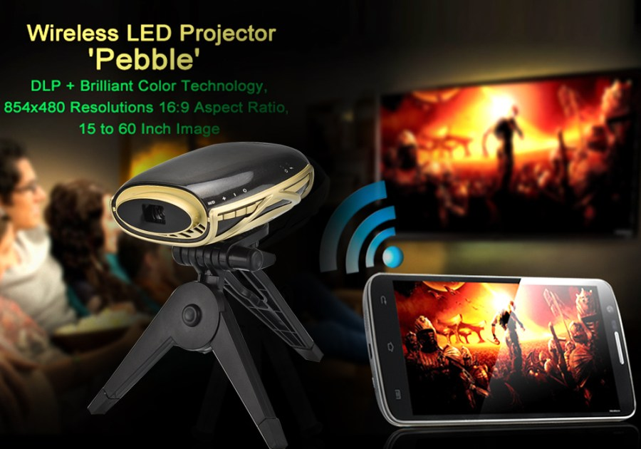 Wireless Pocket LED Projector 'Pebble 2'