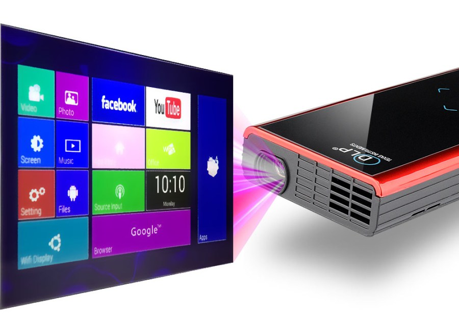 120 Lumen Mini Android DLP Projector