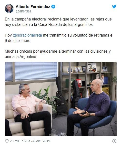 El pedido de Alberto Fernández en Twitter