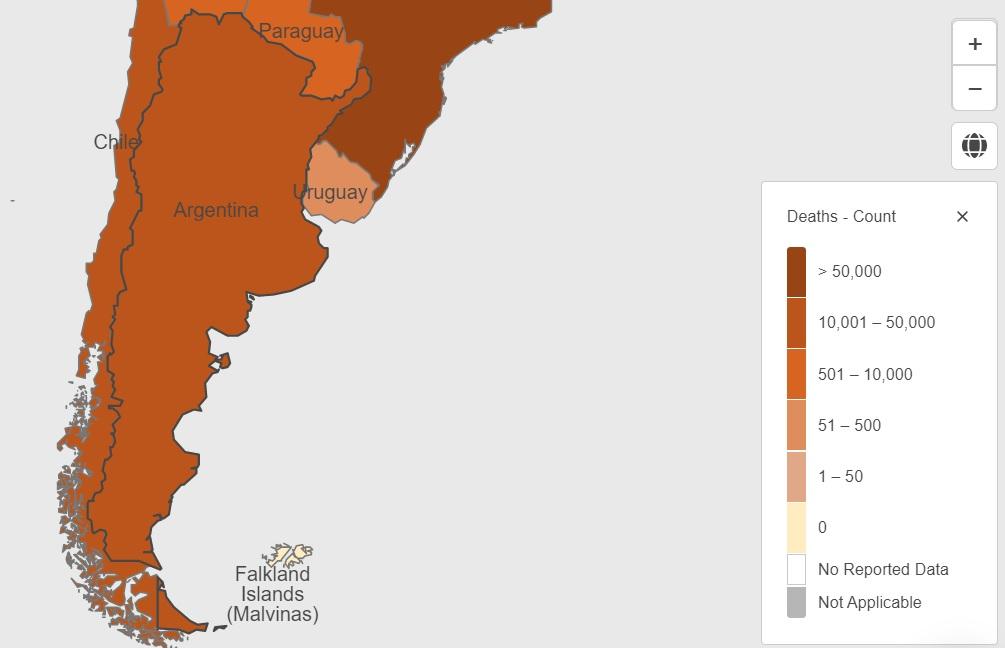 El avance del coronavirus en Argentina según la OMS